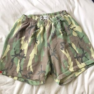 Camo WILDFOX P.E. Shorts